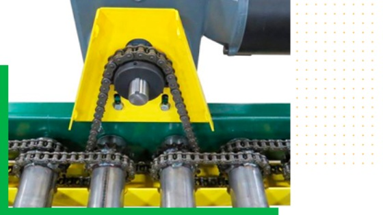Airoll Fixed Drive Chain Conveyor Rollers