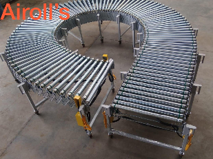 Expandable Motorized Flexible Roller Conveyor